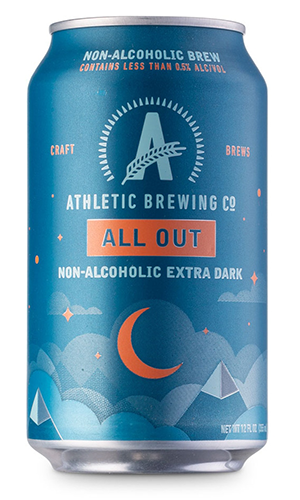 athletic brewing co. all out stout | non alcoholic drinks
