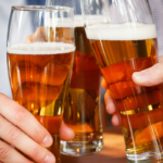 three beer glasses | non alcoholic beer