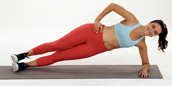side plank demonstration | how to activate abs