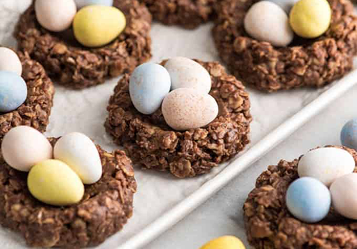 nest cookies recipe image | easter recipes