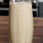 glass of butternut squash and coconut smoothie | butternut squash and coconut smoothie