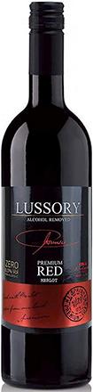 lussory premium non-alcoholic merlot bottle   non alcoholic wine