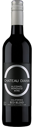 chateau diana zero red wine bottle | non alcoholic wine