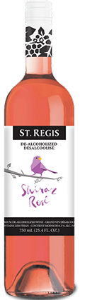 st. regis shiraz rose bottle | non alcoholic wine
