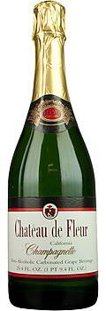 chateau de fleur non-alcoholic champagne bottle   non alcoholic wine