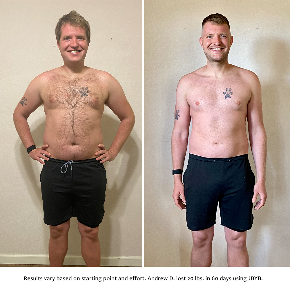 andrew before and after | just bring your body results