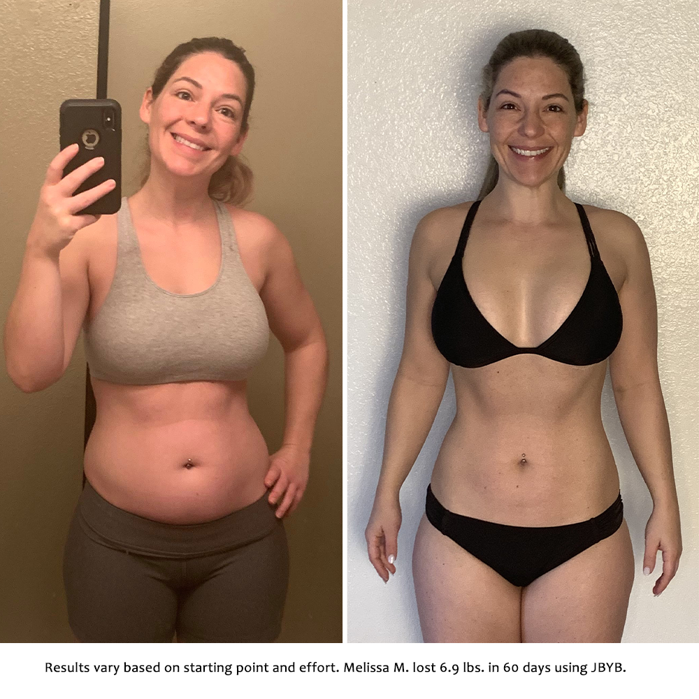 melissa before and after | just bring your body results