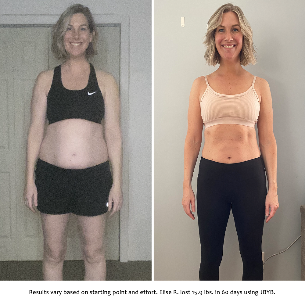 elise before and after | just bring your body results