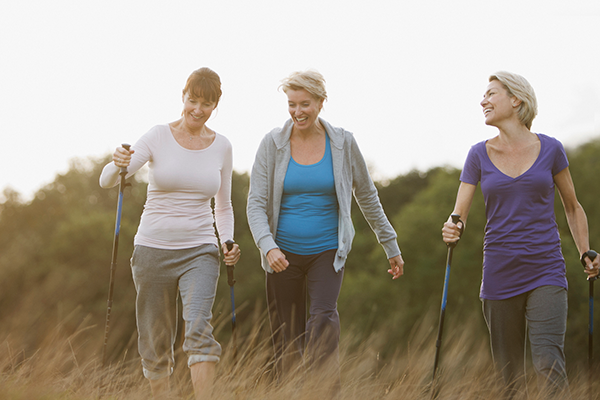 group of 3 women walking | fit after 50