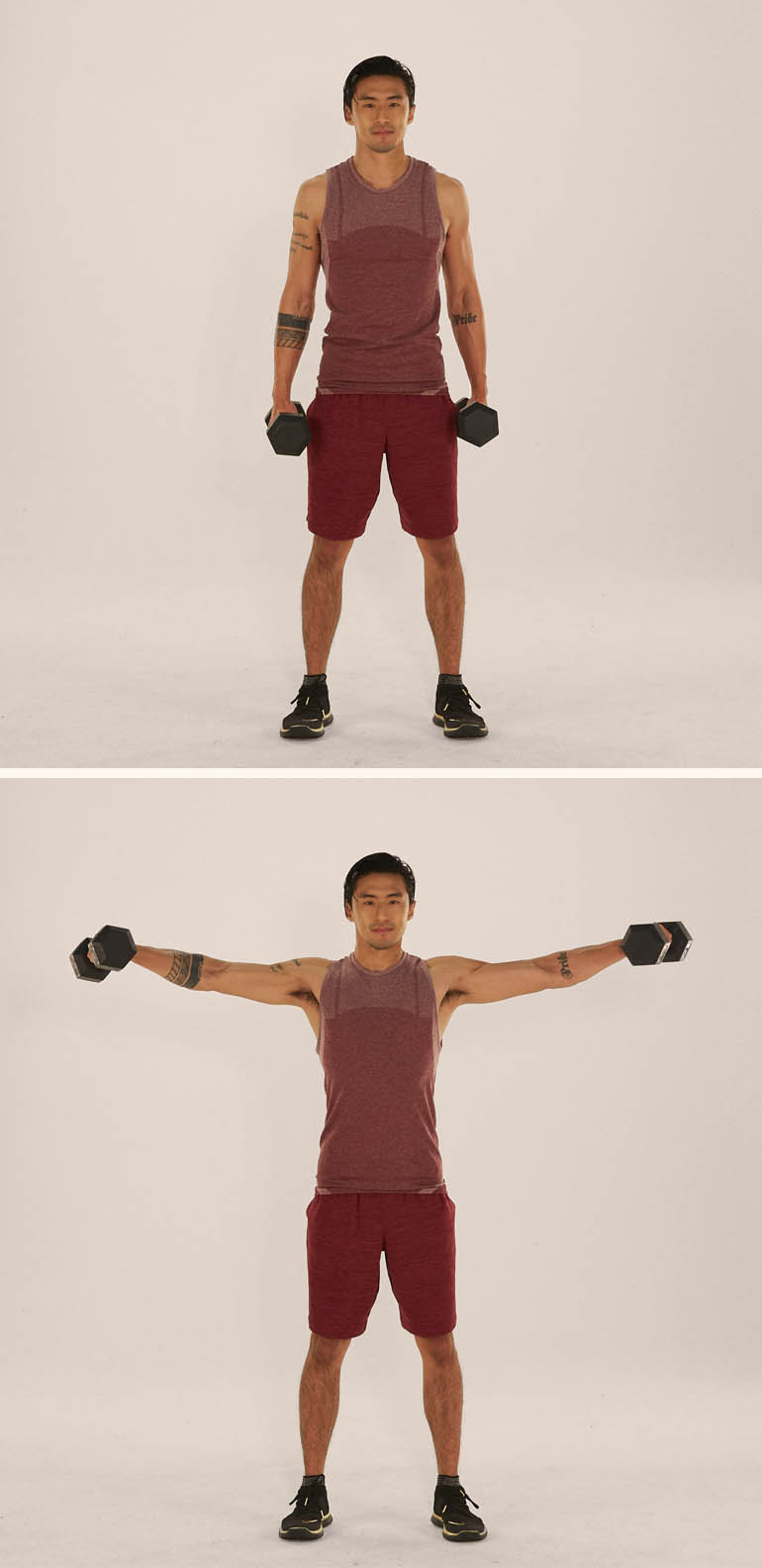 lateral raise demonstration | hourglass figure