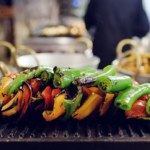 grilled peppers on griddle   healthy blackstone griddle recipes