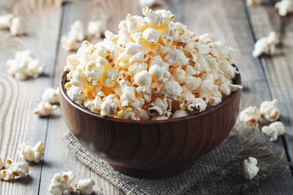 bowl of popcorn | low calorie snacks