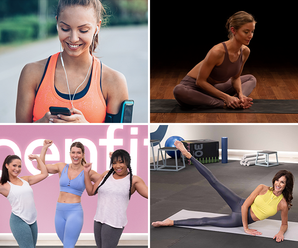 collage of openfit beginner friendly programs | how to get started with fitness