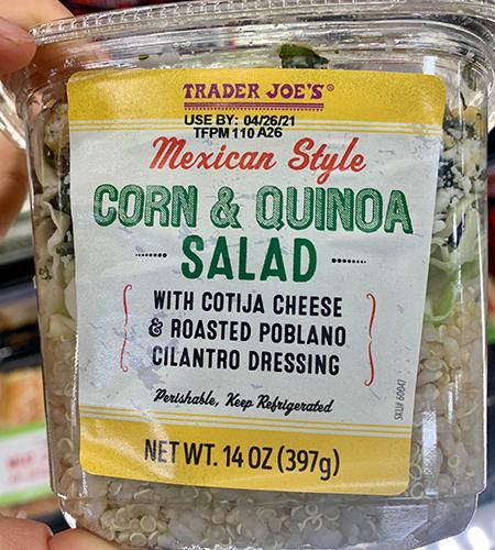 trader joes mexican style corn and quinoa salad | trader joes salads