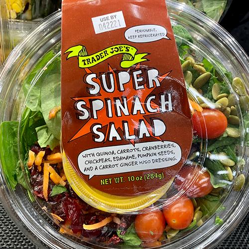 trader joes super spinach salad | trader joes salads