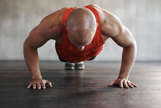 reduced range of motion push up   knee push up