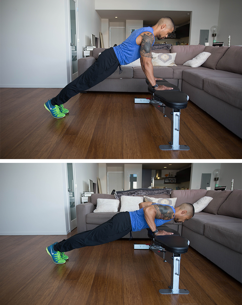 incline push up   knee push ups