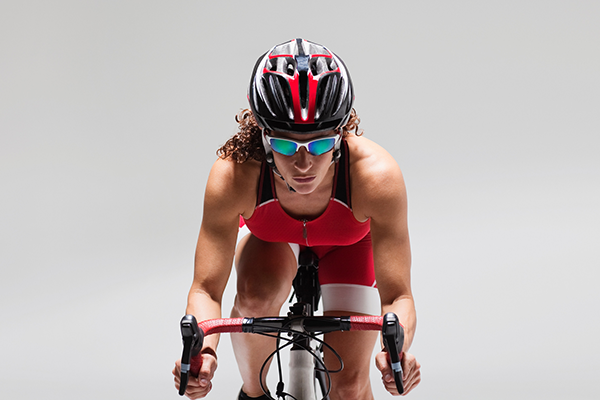 front view of cyclist on plain background | cycling diet