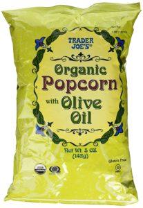 Trader Joe's Organic Popcorn with Olive Oil