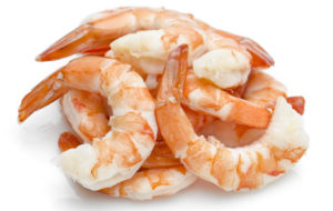 pile of raw peeled shrimp--what to eat to lose weight