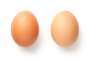 two brown eggs--what to eat to lose weight