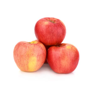 three apples stacked--what to eat to lose weight