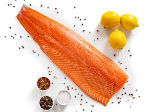 raw salmon fillet--what to eat to lose weight