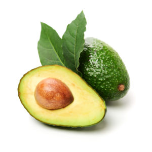 avocado sliced in half--what to eat to lose weight