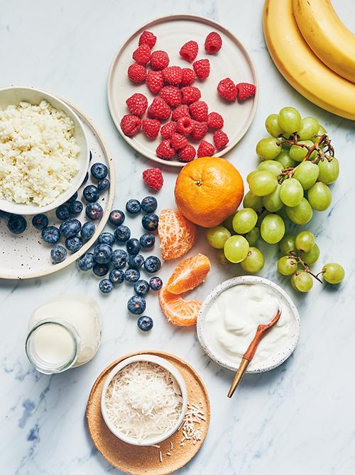 ingredients for rainbow smoothie bowl | rainbow smoothie bowl recipe