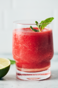 glass of mint watermelon refresher cocktail--mint watermelon cocktail