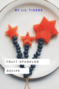 Easy Fruit Sparkler--4th of July desserts
