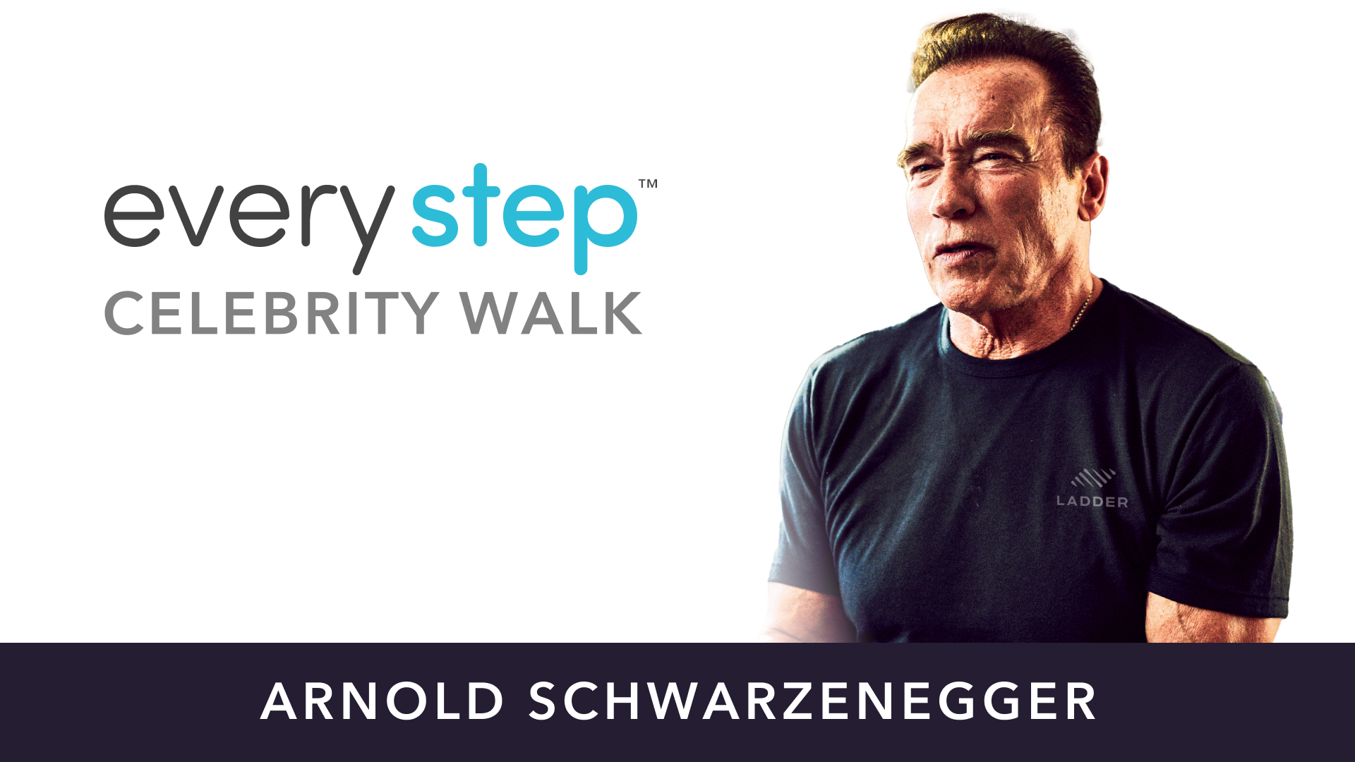 arnold every step celebrity walk