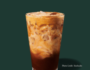 Iced chocolate Almondmilk shaken espresso -- Starbucks summer drinks