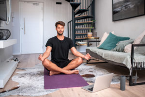 man relaxing -- how to prevent exercise burnout