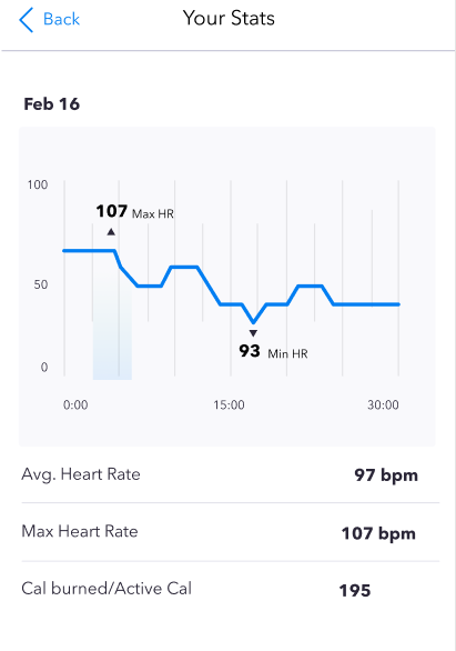 openfit heart rate tracking stats