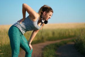 pushing too hard -- lower back pain