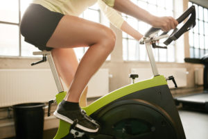 keep hips level -- proper cycling form