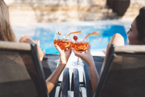 go easy on the alcohol -- How To Stick To Your Nutritional Goals When Traveling