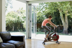 main difference -- road bike vs indoor cycling bike