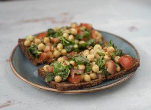 avocado-chickpea-and-tomato-toast-chickpea-recipes