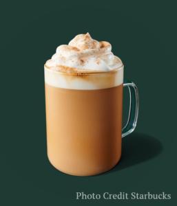 pumpkin spice latte -- Starbucks fall drinks