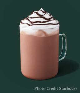 skinny hot chocolate -- Starbucks fall drinks