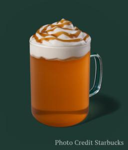 caramel apple spice -- Starbucks fall drinks